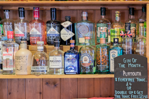 Drinks - photo of gins at the Malt Shovel Tavern