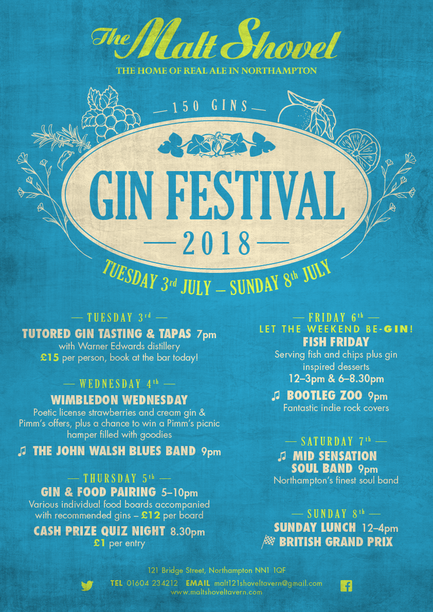 GIN FESTIVAL FEATURING 150 GINS!!
