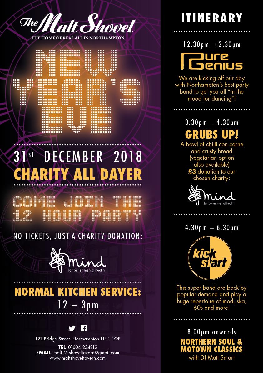 New Year's Eve at the Malt Shovel Tavern