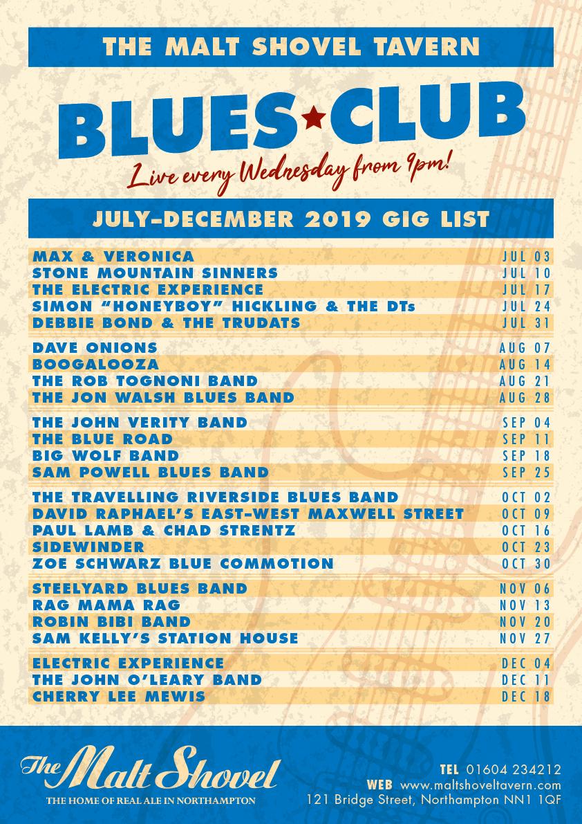 Wednesday blues club – FREE ENTRY
