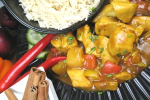 Food - photo of curry and rice