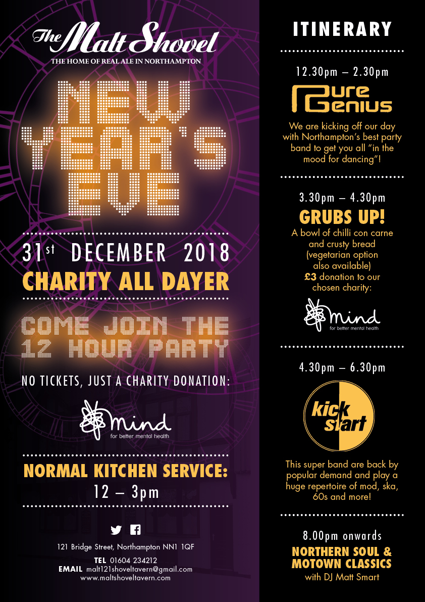New Year's Eve at the Malt Shovel Tavern