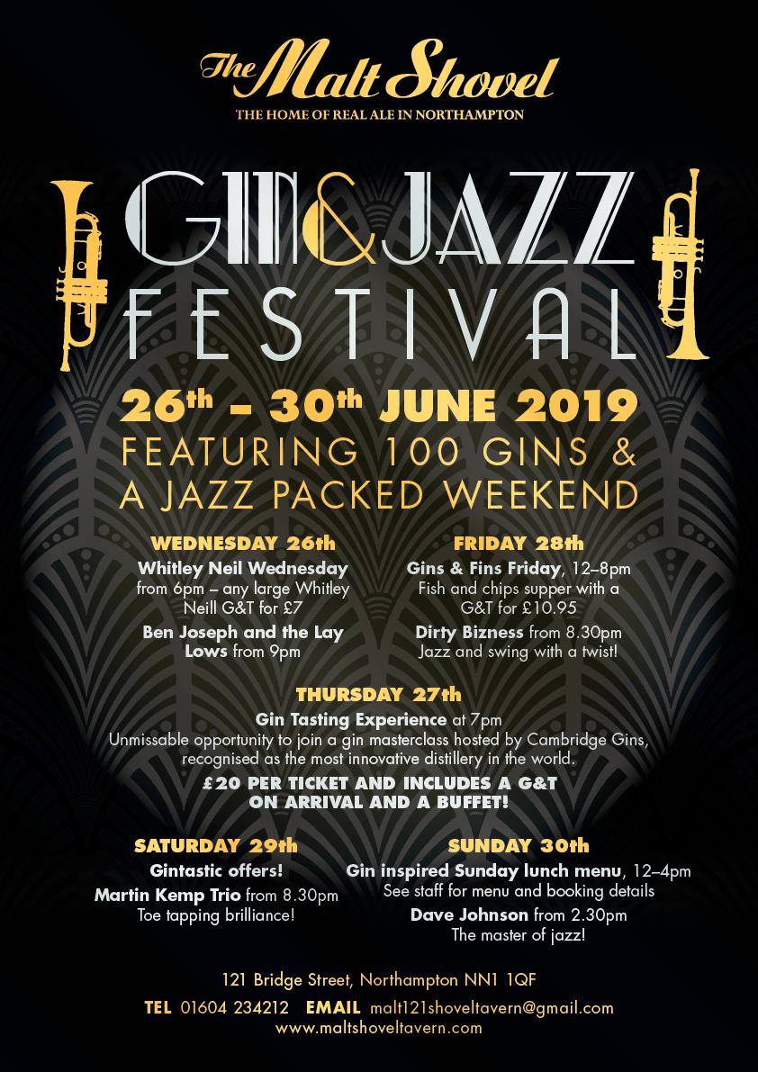 Gintastic, ginspired Gin & Jazz Festival